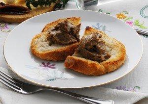 Crostini al pat di beccaccia - Antipasti della Toscana