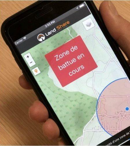 Géolocalisation des battues en temps réel : une 1ère en France !