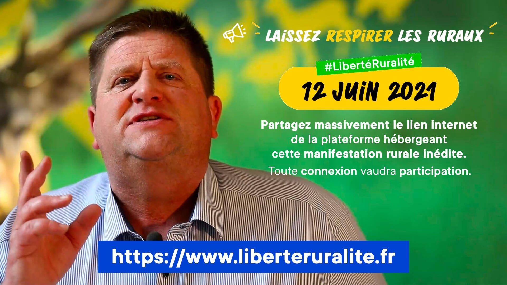 Samedi 12 juin : 1ère manifestation virtuelle pour la défense de la ruralité